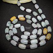 Работы для детей, handmade. Livemaster - original item Beads of jade 58 cm Solar mint. Handmade.
