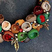 Украшения ручной работы. Ярмарка Мастеров - ручная работа украшение колье из полимерной глины бутоны  моя радость. Handmade.