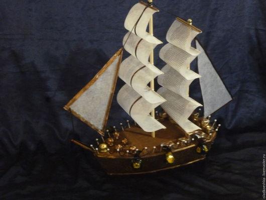 Подарки для мужчин, ручной работы. Ярмарка Мастеров - ручная работа. Купить Корабль. Handmade. Коричневый, День защитника отечества