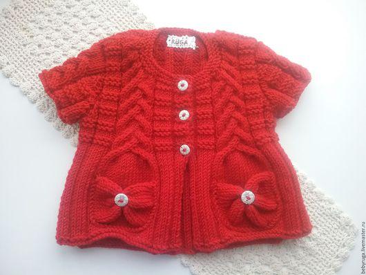 Одежда для девочек, ручной работы. Ярмарка Мастеров - ручная работа. Купить Кофта на 3-4 годика. Handmade. Ярко-красный