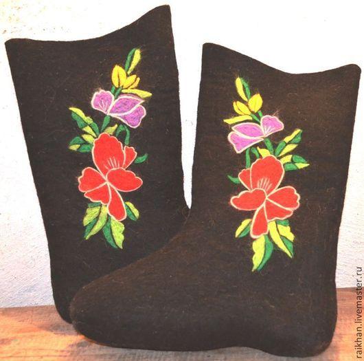 """Обувь ручной работы. Ярмарка Мастеров - ручная работа. Купить Валенки женские, расписные """" Гладиолус"""".. Handmade. Валенки"""