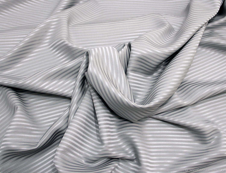 Loro Piana костюмная ткань светло-серая в полоску, Ткани, Москва,  Фото №1