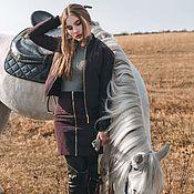 Одежда ручной работы. Ярмарка Мастеров - ручная работа Стеганный костюм бордо. Handmade.