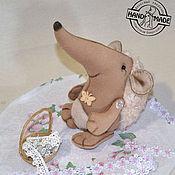 Куклы и игрушки ручной работы. Ярмарка Мастеров - ручная работа Мягкая игрушка кудрявый еж. Handmade.
