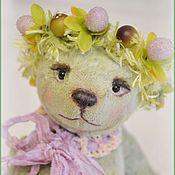 Куклы и игрушки ручной работы. Ярмарка Мастеров - ручная работа Кубышка мишка тедди. Handmade.