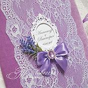 Свадебный салон ручной работы. Ярмарка Мастеров - ручная работа Папка бархатная лавандовая свадьба. Handmade.