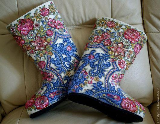 Обувь ручной работы. Ярмарка Мастеров - ручная работа. Купить Под  платок. Handmade. Платок, валенки, обувь для улицы, тапочки
