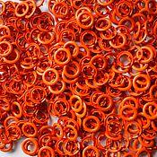 Материалы для творчества ручной работы. Ярмарка Мастеров - ручная работа Кнопки Prym 9,5 мм рубашечные оранжевые (трикотажные, джерси). Handmade.