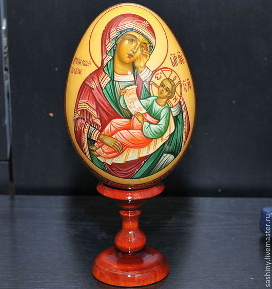 Яйца ручной работы. Ярмарка Мастеров - ручная работа. Купить Пасхальное яйцо образ Богородицы Утоли мои печали. Handmade.