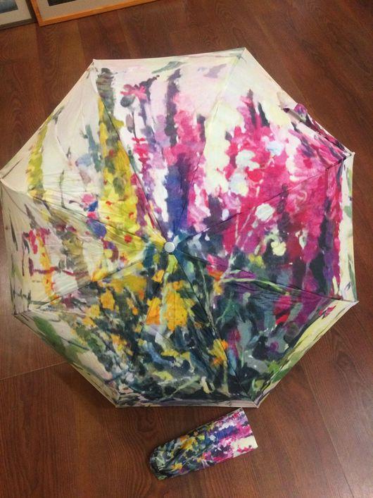 """Зонты ручной работы. Ярмарка Мастеров - ручная работа. Купить Авторский зонт """" Полевые цветы"""". Единственный экземпляр.. Handmade."""