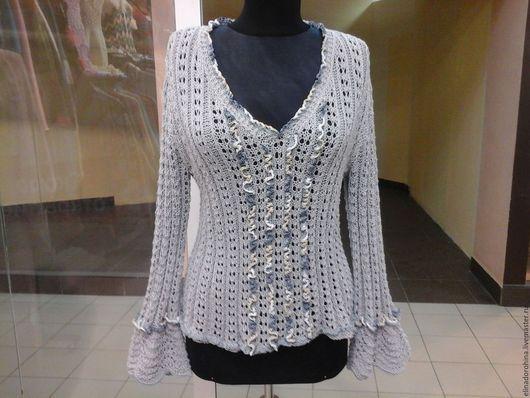 Кофты и свитера ручной работы. Ярмарка Мастеров - ручная работа. Купить пуловер Ванесса Монтторо ( лето ). Handmade.
