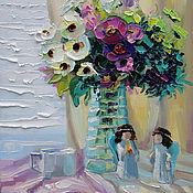 Картины и панно handmade. Livemaster - original item Oil painting Morning before Christmas. Handmade.