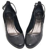 Обувь ручной работы. Ярмарка Мастеров - ручная работа Туфли Black & black. Handmade.