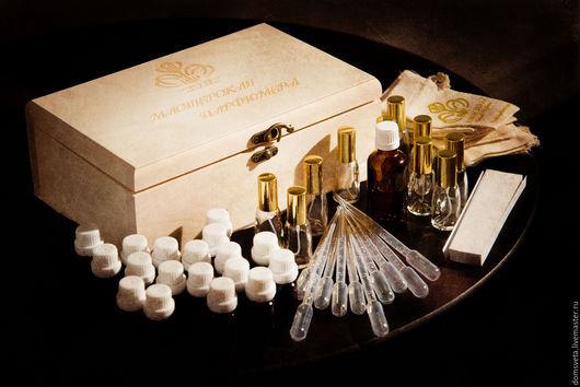 """Подарочные наборы ручной работы. Ярмарка Мастеров - ручная работа. Купить Набор для изготовления натуральной парфюмерии """"Мастерская Парфюмера"""". Handmade."""