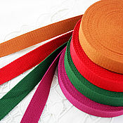 Материалы для творчества handmade. Livemaster - original item Accessories for bags: Belt sling, cotton 25 mm, 4 colors. Handmade.