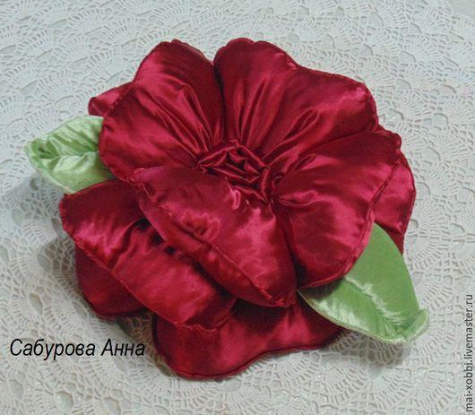 Текстиль, ковры ручной работы. Ярмарка Мастеров - ручная работа. Купить декоративная подушка роза. Handmade. Подушка декоративная, спальня