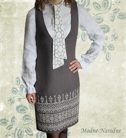 Модная одежда с ручной вышивкой. Творческое ателье modne-narodne. Костюм с ручной вышивкой Форте и Пиано.