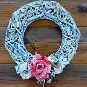 Подарки к праздникам ручной работы. Ярмарка Мастеров - ручная работа Венок интерьерный Rose. Handmade.