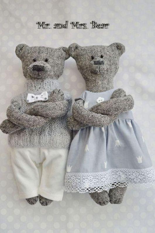 Игрушки животные, ручной работы. Ярмарка Мастеров - ручная работа. Купить Мишки Mr. and Mrs. Bear, медведи ручной работы,. Handmade.