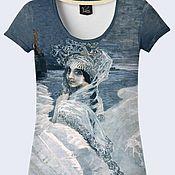 """Одежда ручной работы. Ярмарка Мастеров - ручная работа Женская футболка """"Царевна Лебедь"""". Handmade."""