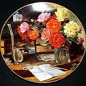 Винтаж handmade. Livemaster - original item Delightful still lifes with bouquets of flowers, Royal Mosa, Holland. Handmade.
