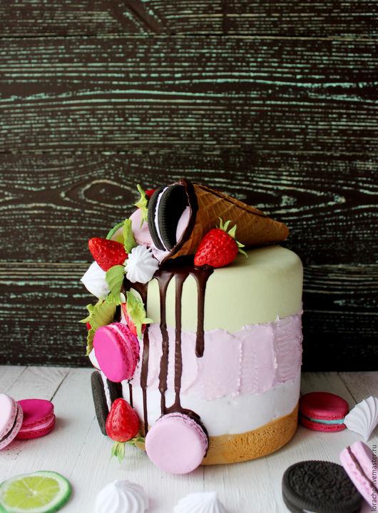 Аксессуары для фотосессий ручной работы. Ярмарка Мастеров - ручная работа. Купить Муляж торта с рожком мороженого. Handmade. Комбинированный
