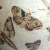 """Посуда ручной работы. Ярмарка Мастеров - ручная работа Керамический сервиз """"С мотыльками"""". Handmade."""