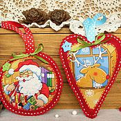 Подарки к праздникам handmade. Livemaster - original item A set of Christmas tree decorations out of felt (5pcs.)