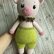 Мягкие игрушки ручной работы. Ярмарка Мастеров - ручная работа Свинка большая. Handmade.