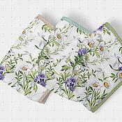 Для дома и интерьера handmade. Livemaster - original item Waffle towel bells and daisies elongated. Handmade.