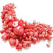 Украшения ручной работы. Ярмарка Мастеров - ручная работа Браслет «Коралловый» из натуральных кораллов красного цвета. Handmade.