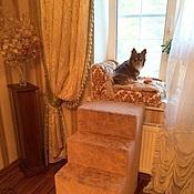 Для домашних животных, ручной работы. Ярмарка Мастеров - ручная работа Высокая лесенка для собак до окна. Handmade.