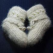 "Работы для детей, handmade. Livemaster - original item Knitted baby-shoes ""Beads"". Handmade."
