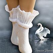 Аксессуары ручной работы. Ярмарка Мастеров - ручная работа Адажио. Носки вязаные, шерстяные, подарок ручной работы. Handmade.