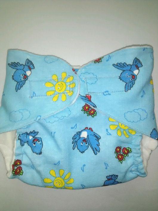 """Одежда ручной работы. Ярмарка Мастеров - ручная работа. Купить Памперсы многоразовые """"Мамина забота"""" цвет голубой. Handmade. Голубой"""