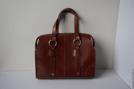 Женские сумки ручной работы. Ярмарка Мастеров - ручная работа. Купить Женская сумка из толстой кожи. Handmade. Рыжий