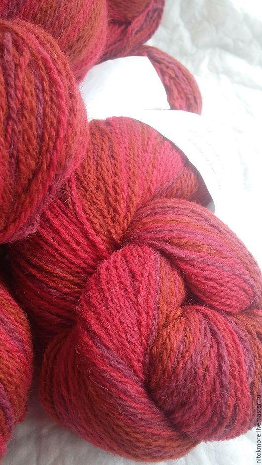 Вязание ручной работы. Ярмарка Мастеров - ручная работа. Купить Кауни Red 8/2. Handmade. Комбинированный, ред