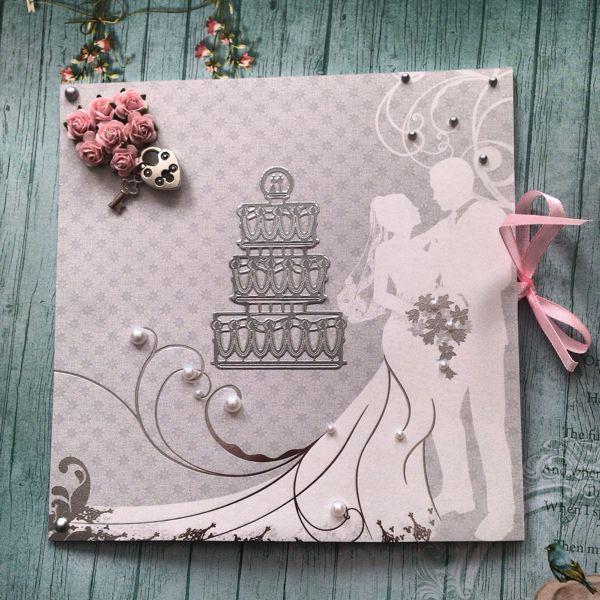 Авторские свадебные открытки, пирожное фото