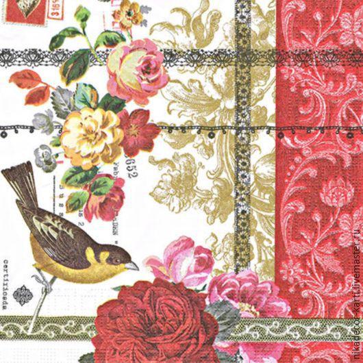 Декупаж и роспись ручной работы. Ярмарка Мастеров - ручная работа. Купить Розовое кружево (006364) - салфетка для декупажа. Handmade. Разноцветный