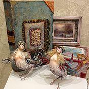 Подарки к праздникам ручной работы. Ярмарка Мастеров - ручная работа Новогодняя коробочка с двумя игрушками. Handmade.