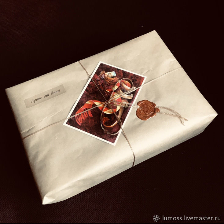 packaging with a postcard, Gift wrap, Moscow,  Фото №1
