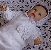 Работы для детей, ручной работы. Ярмарка Мастеров - ручная работа Комбинезон для новорожденного. Вязанный комбинезон для малыша. Handmade.