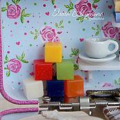 Мебель для кукол ручной работы. Ярмарка Мастеров - ручная работа Набор кубиков разноцветные 6 шт. Handmade.