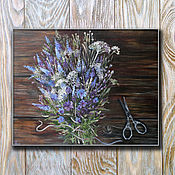 Картины и панно handmade. Livemaster - original item Oil painting Bouquet for home. Handmade.