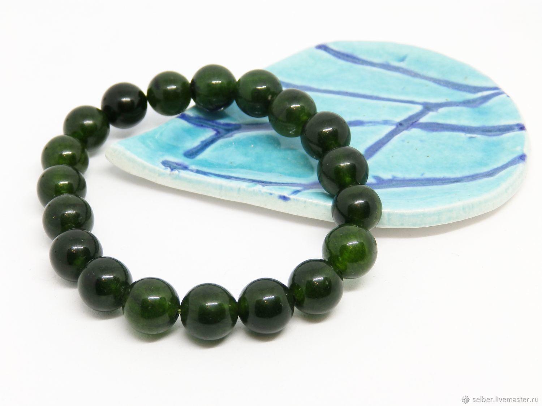 Bracelets Handmade Livemaster Bracelet Of Green Jade Beads 19