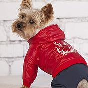 Для домашних животных, ручной работы. Ярмарка Мастеров - ручная работа Комбинезон для собаки  Рождество. Handmade.