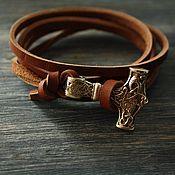 Субкультуры handmade. Livemaster - original item Leather bracelet
