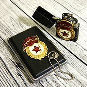 Сувениры и подарки handmade. Livemaster - original item Cigarette case for 12,18 cigarettes with the image of symbols of the Soviet period. Handmade.