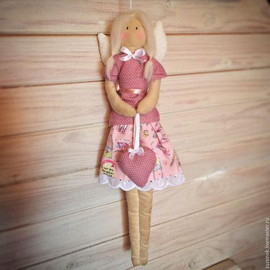 """Куклы Тильды ручной работы. Ярмарка Мастеров - ручная работа. Купить Тильда ангел """"Софи"""", кофейная кукла (осенняя скидка). Handmade."""