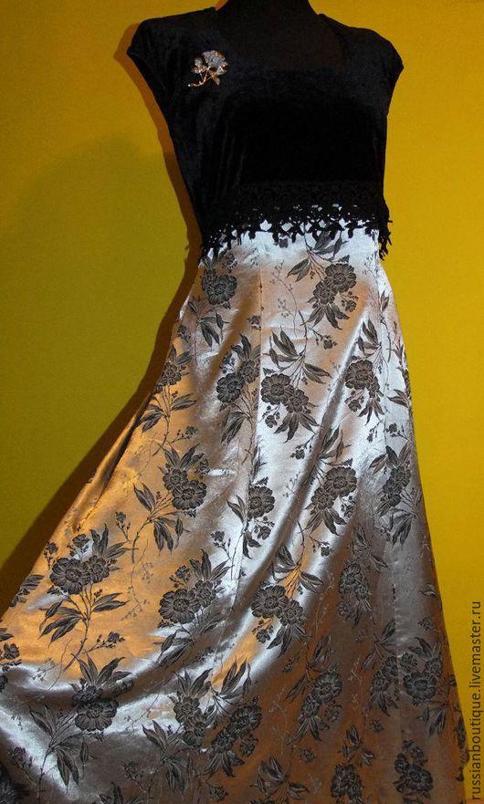 Одежда. Ярмарка Мастеров - ручная работа. Купить Роскошное,торжественное платье от Fredericks of Hollywood 80-х. Handmade. Серебряный